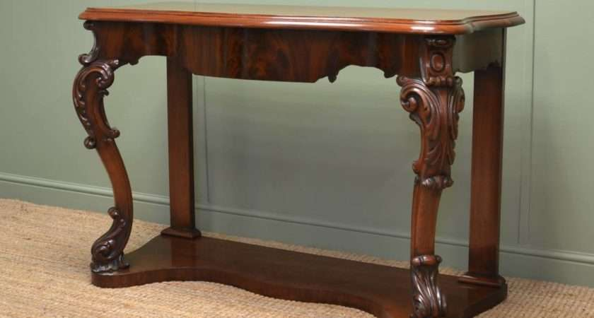 High Quality Victorian Antique Mahogany Console Table