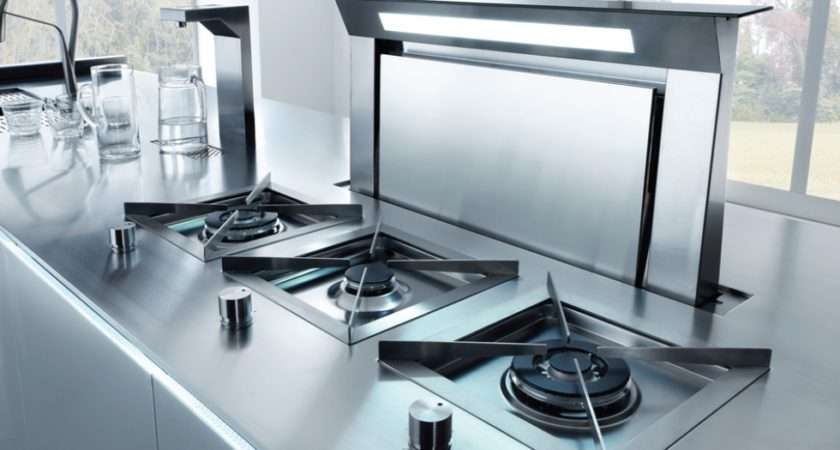 Hob Integration Into Stellar Stainless Steel Workstops