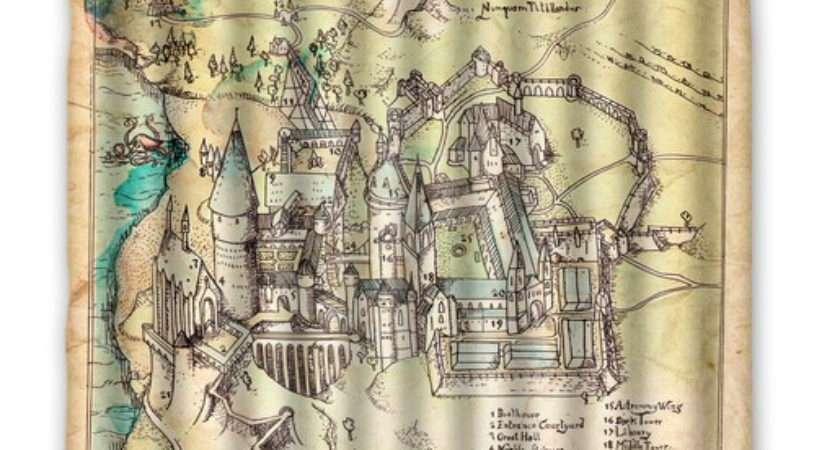 Hogwarts Map Custom Harry Potter Shower Curtain Home