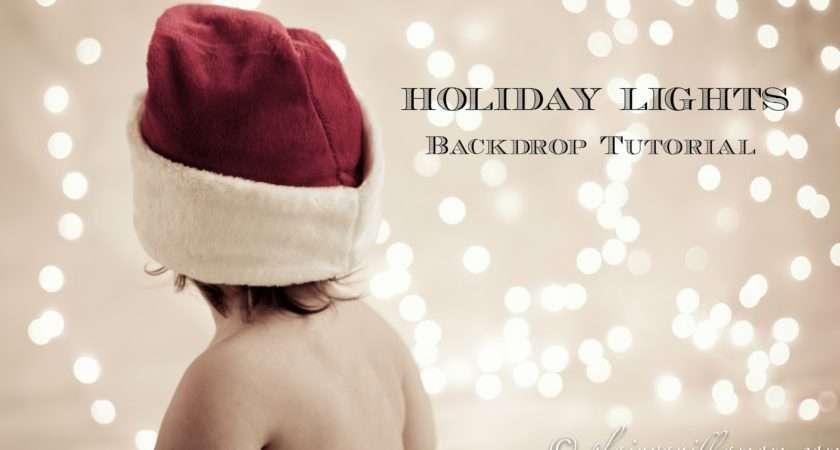 Holiday Lights Backdrop Tutorial Plain Vanilla Mom