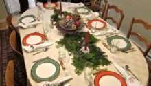Holiday Table Ideas Oval Dining Decorate