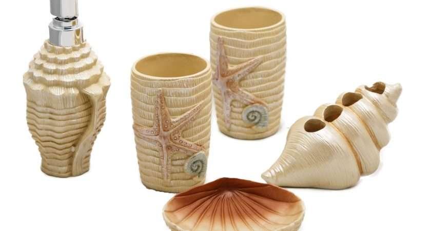 Home Bathroom Accessories Five Piece Ceramic Set Starfish