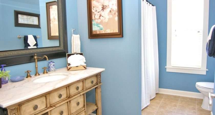 Home Bathroom Best Color Idea Blue Wall