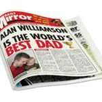 Home Birthday Gifts Best Dad Personalised Newspapers