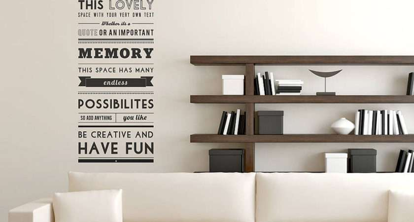 Home Black White Wall Stickers Personalised Quote Sticker