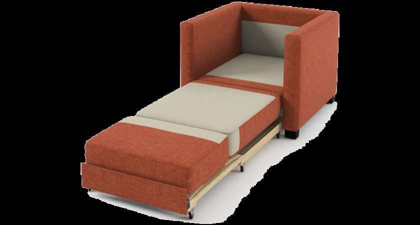 Home Boom Chair Sofa Bed Orange Fabric