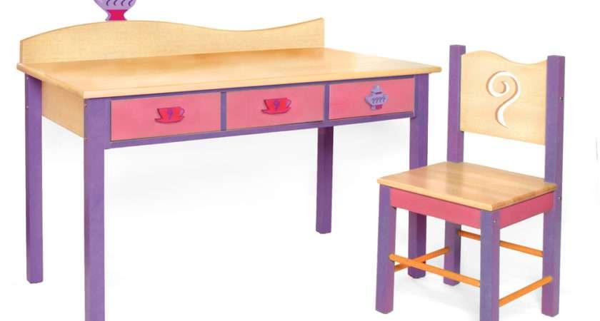 Home Children Desks Girl Teaset Desk Chair Set Grey