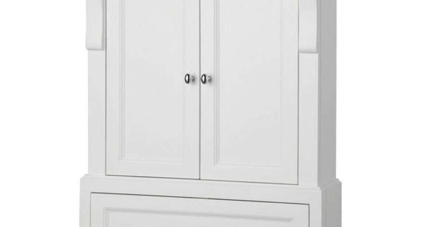 Home Design Tall Bathroom Storage Cabinet Black