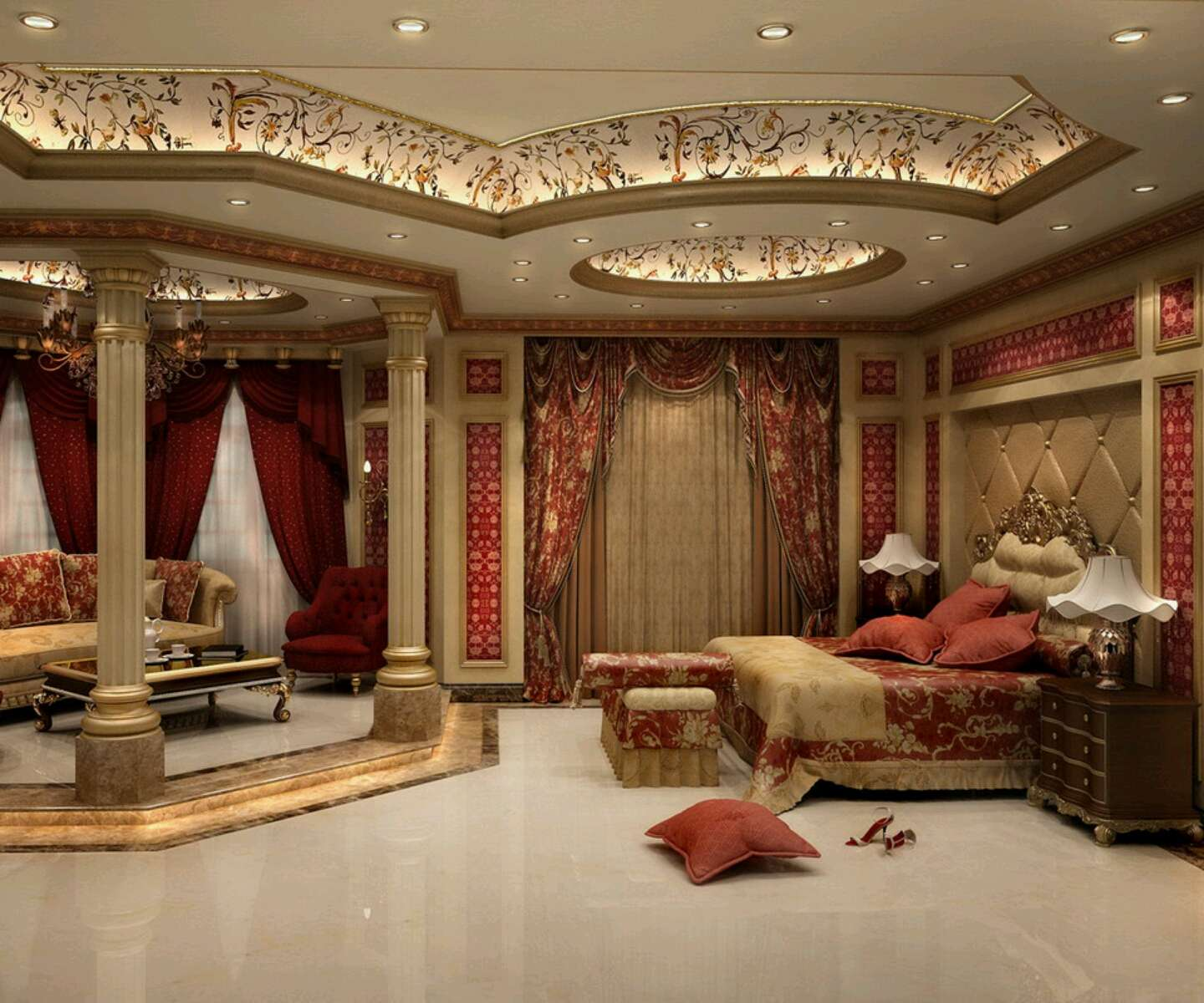 Home Designs Latest Modern Bedrooms Ceiling Ideas