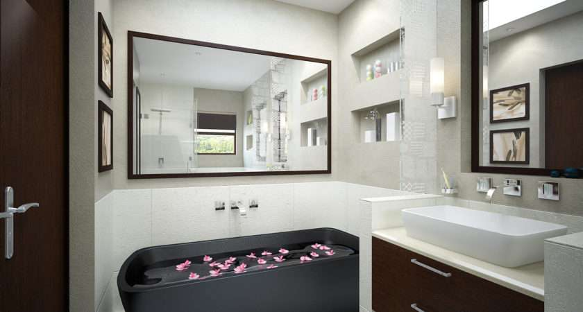 Home Interior Decoration Elegant Bathroom Design Ideas