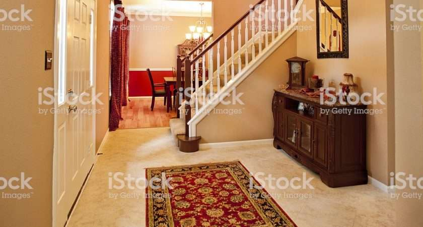 Home Interior Foyer Staircase Middle Class