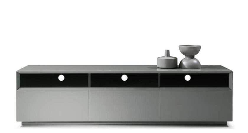 Home Living Room Stands Grey High Gloss Unit