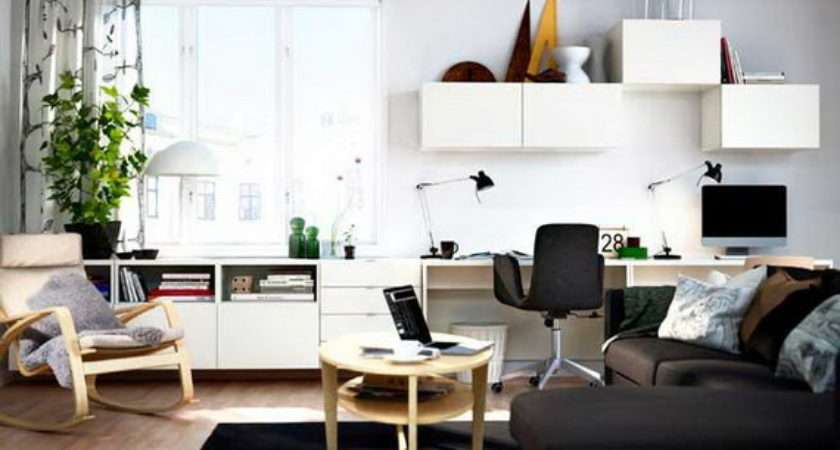 Home Office Combined Living Rooms Small Spaces