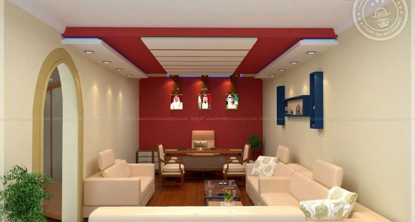 Home Office Interior Design Siraj Kerala Plans