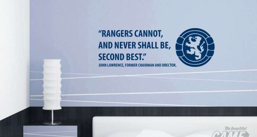 Home Shop Team Scottish Rangers John Lawrence Quote Wall Sticker