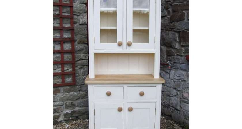 Home Small Painted Welsh Dresser Panelled Glazed Doors
