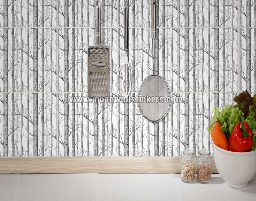 Home Tile Stickers Wall Tiles Birch Trees Pack
