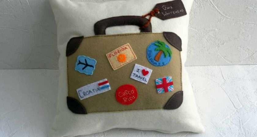 Home Travels Personalised Handmade Cushion