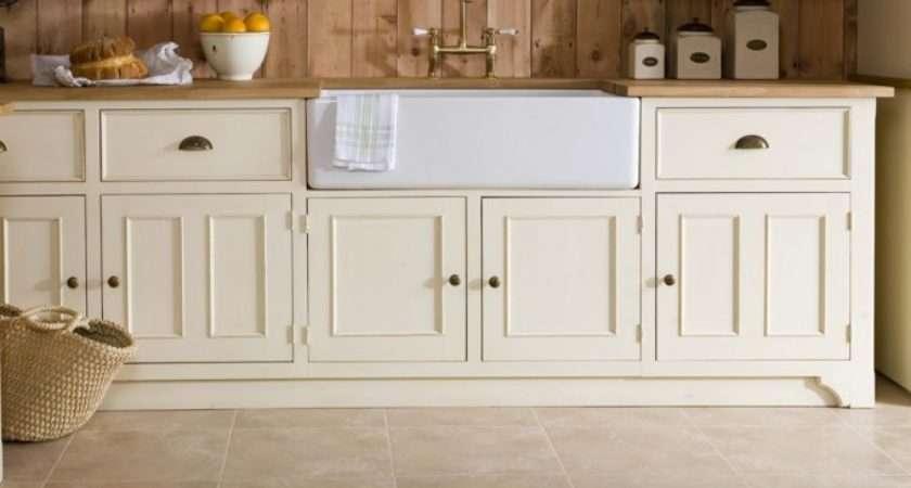 Home Victorian Freestanding Kitchen Painted Pine Sink Unit