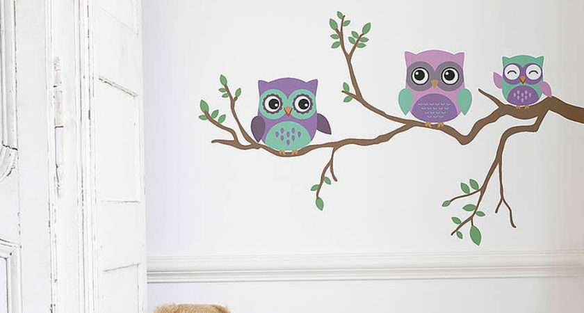 Home Wall Stickers Childrens Children Owl