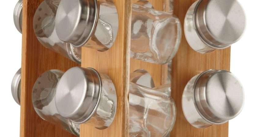 Home Wooden Revolving Spice Rack