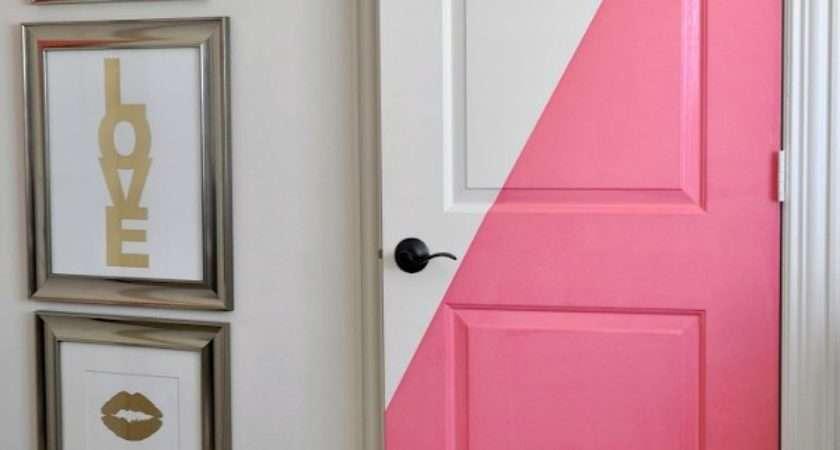 Honey Home Diagonal Painted Office Doors