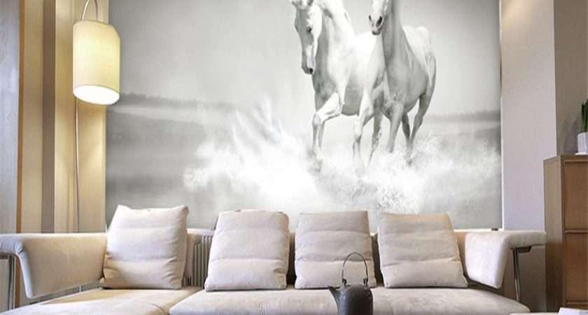 Horses Custom Mural Shipping Worldwide