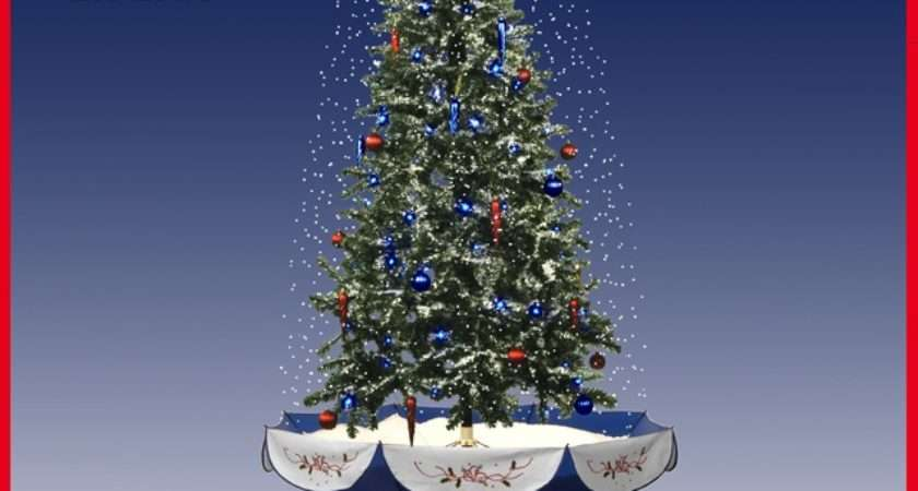 Hot Selling Snowing Christmas Tree Craft