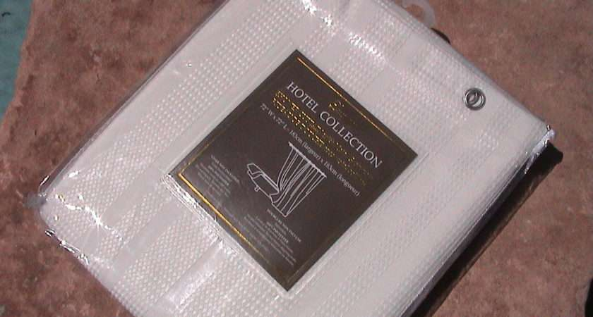 Hotel Collection Luxury Fabric Shower Curtain Hard Find Nice