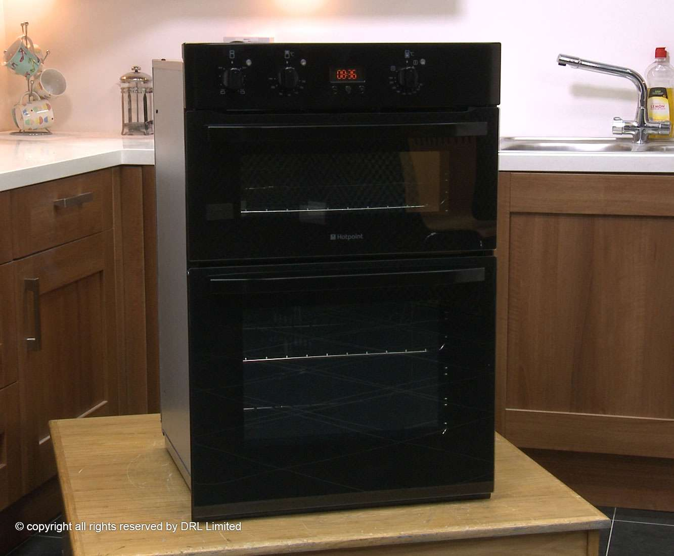 Hotpoint Newstyle Built Electric Double Oven Black