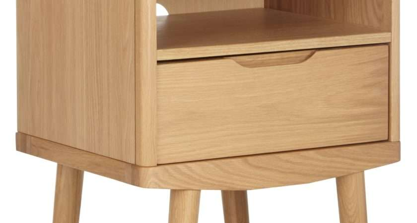 House John Lewis Bow Drawer Bedside Table Octer