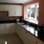 Howarth Solid Wood White Oak Kitchen Units Black Granite Worktop