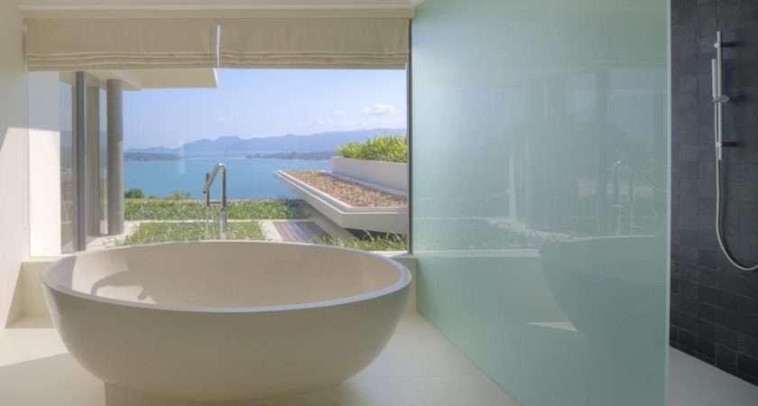 Huge Suite Bathrooms Offer Rainfall Showers Modern Freestanding