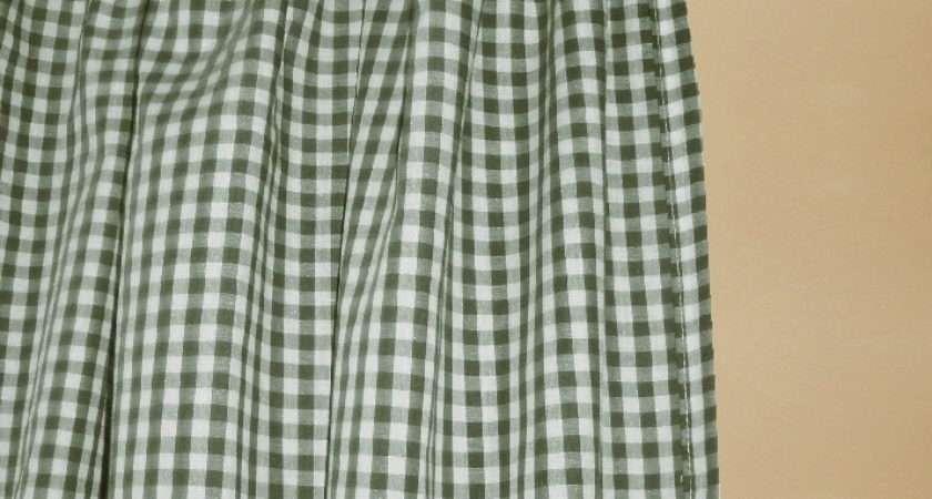 Hunter Green Gingham Check Shower Curtain