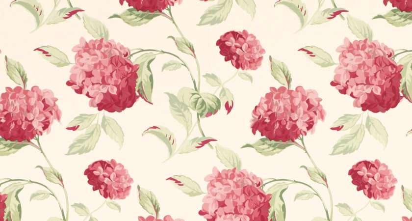 Hydrangea Cranberry Floral Laura Ashley