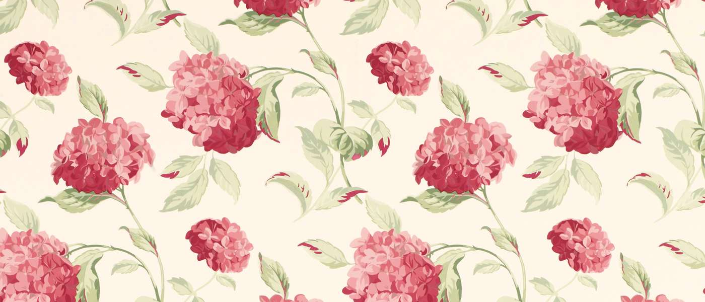 Hydrangea Cranberry Floral Laura Ashley