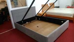 Hygena Taylor King Bed Frame Grey Suede Bilston Sandwell