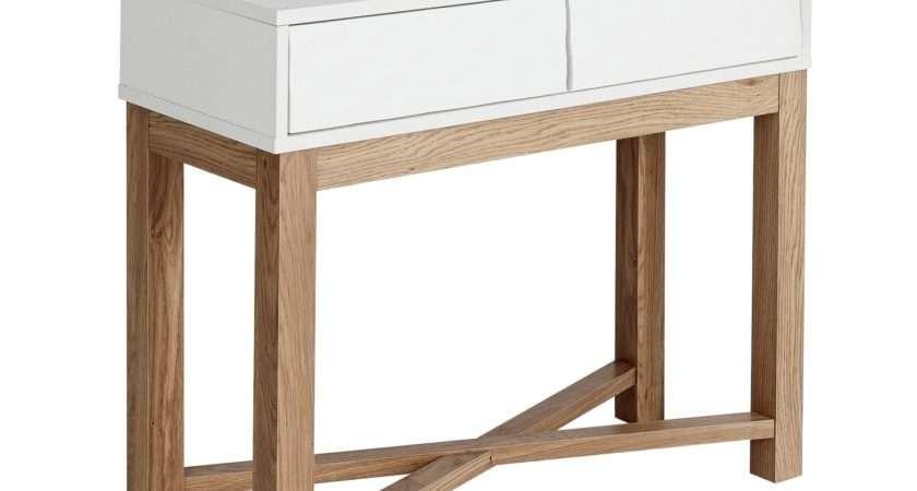 Hygena Zander Console Table Two Tone Octer