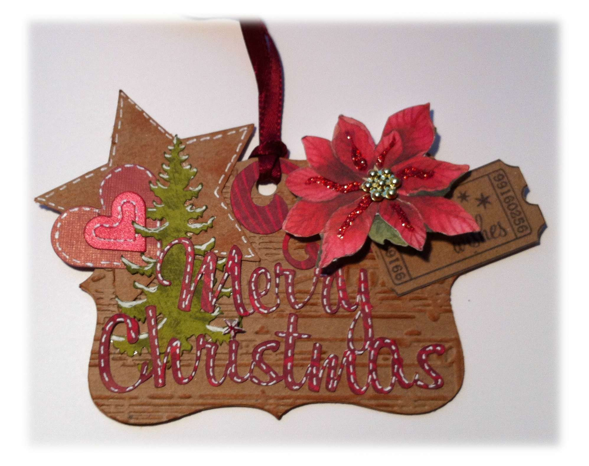 Ideas Hanging Insert Hang Christmas Cards Ribbon