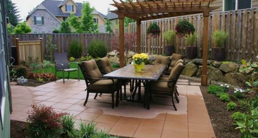 Ideas Small Spaces Budget Backyard Patio Designs