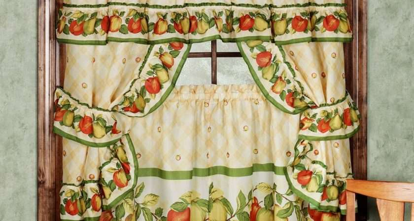 Ideas Vintage Kitchen Curtains Decorating