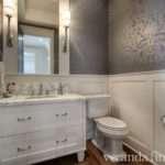 Ikat Contemporary Bathroom Artistic Designs Living