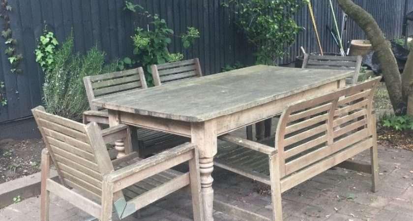 Ikea Applaro Wooden Garden Chairs Beckenham London