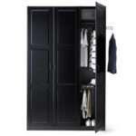Ikea Black Wardrobe