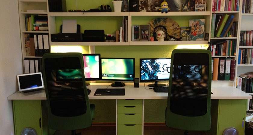 Ikea Doubledesk Workspace Hackers