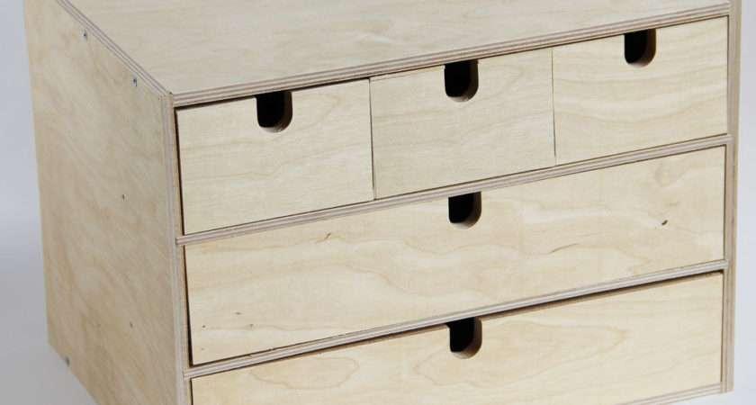 Ikea Fira Birch Wooden Storage Chest Box Drawers