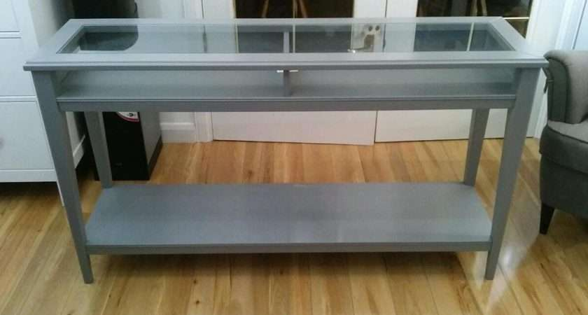 Ikea Grey Liatorp Console Table Sideboard New Rrp