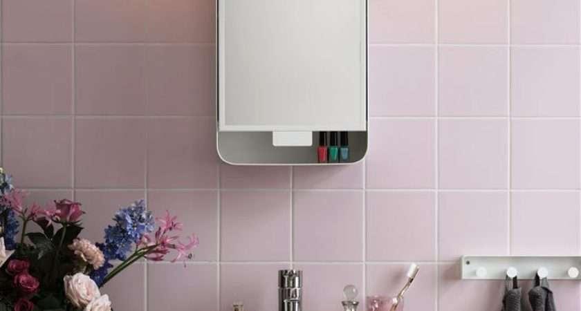 Ikea Gunnern Mirror Cabinet Bathroom Pink Finest