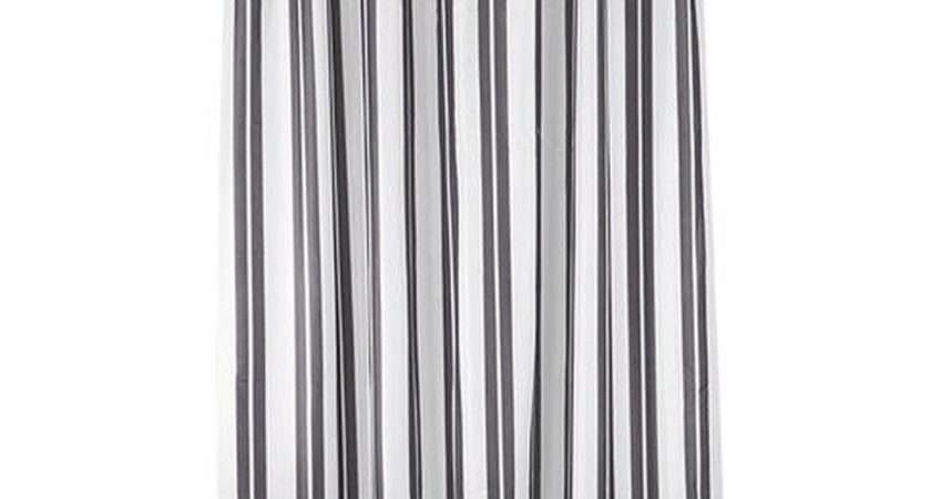 Ikea Skagern Fabric Shower Curtain Gray White Stripes Grey
