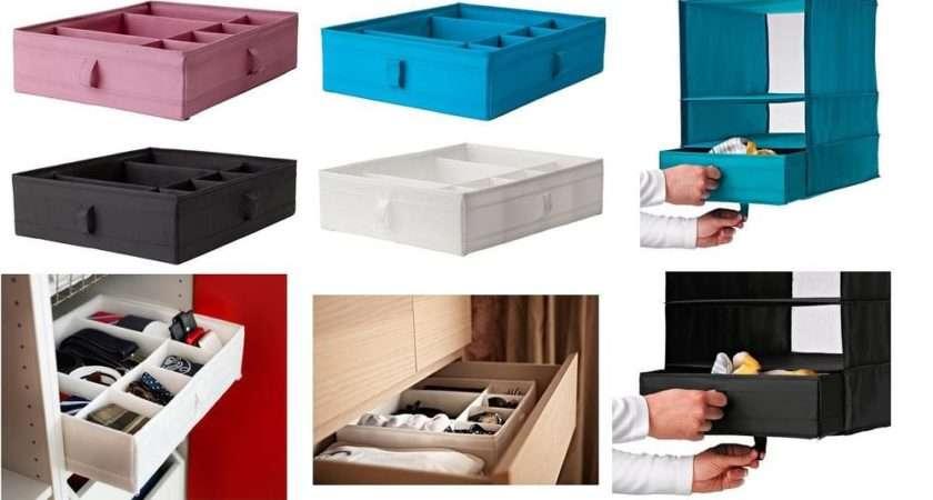 Ikea Skubb Box Compartment Wardrobe Organiser Pink Turquoise